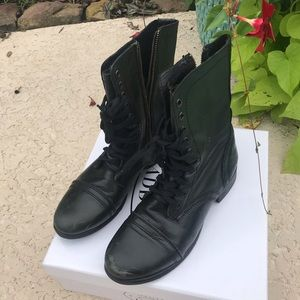 Steve Madden Troopa Boots Black Size 8